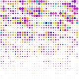 Le fond des points colorés de différentes tailles sur le blanc illustration libre de droits