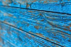 Le fond des vieux conseils bleus peints, horizontal photos stock
