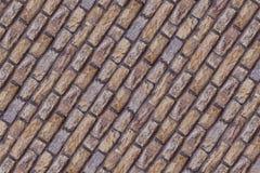 Le fond diagonal de rectangle beaucoup de blocs bruns beiges de chaux de pierres a survécu à la base dure de tissu photos stock