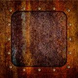 Le fond du fer de plaque métallique rouillé de texture a corrodé, 3d illustration libre de droits