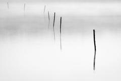 Le fond du lac plat Photographie stock