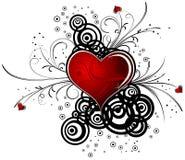 Le fond du valentine abstrait avec des coeurs, vecteur Photographie stock libre de droits