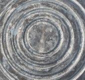 Le fond du vieux seau en acier Image libre de droits