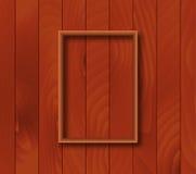 Fond en bois avec le recouvrement de cadre Photo stock