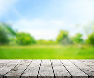 Le fond en bois de dessus de Tableau et les 3d verts rendent Photo stock