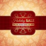 Le fond et le label rouges de Noël avec la vente offrent