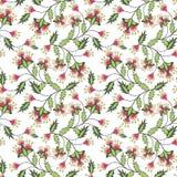 Le fond floral sans couture de modèle, fleurs ornementent l'illustration de textile de papier peint Images libres de droits