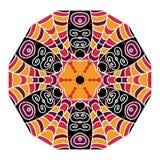 Le fond géométrique abstrait composé de vintage colore des briques Images stock