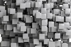 Le fond géométrique abstrait 3d de cubes rendent Image stock