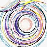 Le fond géométrique abstrait de cercle, avec des courses et éclabousse Photo libre de droits