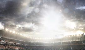 Le fond grand 3d d'arène de multisport rendent Photos libres de droits