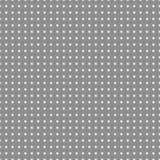Le fond gris avec le blanc pointille le modèle sans couture Photographie stock libre de droits