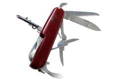 le fond a isolé le blanc de couteau Photo stock