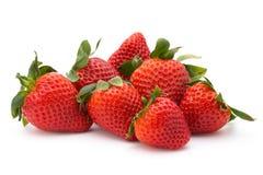 le fond a isolé le blanc de fraise Baie fraîche Image stock