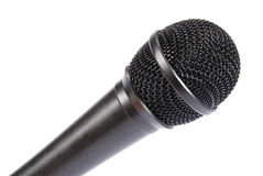 le fond a isolé le blanc de microphone Photos stock