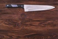 le fond a isolé le blanc de studio de nuances d'objet de lumière de couteau de cuisine Image libre de droits