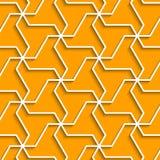 Le fond jaune géométrique avec le contour expulsent effet Photos libres de droits
