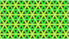 Le fond a les cercles colorés dans le vert et ils sont entrelacés pour former une belle forme illustration de vecteur