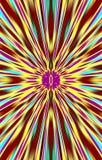 Le fond lumineux coloré des rayures diverge du milieu aux bords Image libre de droits
