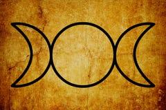 Le fond magique de vintage de symboles de symbole triple de déesse illustration libre de droits