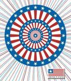 Le fond marque l'Américain arrondi, vecteur Image stock