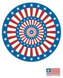 001 Le fond marque l'Américain arrondi, vecteur Illustration de Vecteur