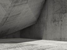 Le fond minimal d'architecture, 3d rendent Photo stock