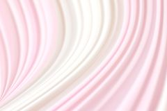 Le fond mou blanc brouillé de vague de rose de tissu, contexte de rideau a brouillé la vague blanche rose de tissu pour épouser l Photos stock
