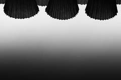 Le fond noir et blanc abstrait Image stock