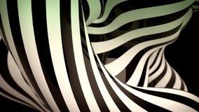 Le fond noir et blanc abstrait de mouvement avec le zèbre mobile raye illustration libre de droits