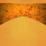 Le fond orange d'or avec de l'or de recouvrement et le rouge a courbé des rayures avec la texture images libres de droits