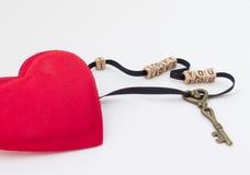 Le fond original de la déclaration de l'amour avec un coeur Photographie stock