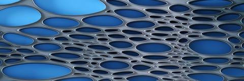Le fond paramétrique panoramique, 3D rendent illustration stock