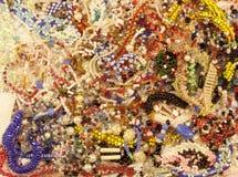 Le fond perle des bijoux Photographie stock