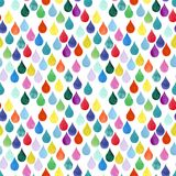 Le fond pluvieux coloré chaotique Autumn Rain d'automne de baisse de modèle d'aquarelle de couleur de baisse de l'eau d'aquarelle Photos stock