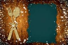Le fond pour écrivent le menu de Noël Photographie stock