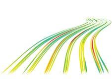 le fond raye le vecteur ondulé illustration de vecteur