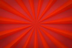 Le fond rouge de rayon avec l'espace 3d de copie rendent Photo libre de droits