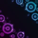 Fond rougeoyant abstrait avec des cercles Photo stock