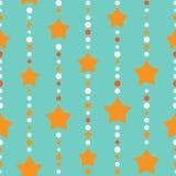 Le fond sans couture avec les points et l'orange bleus et oranges se tient le premier rôle sur le fond blanc vert-bleu illustration libre de droits