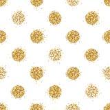 Le fond sans couture brillant avec le scintillement d'or pointille la décoration illustration stock