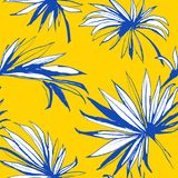 Le fond sans couture floral Palm Beach de modèle de jungle tropicale part Illustration de Vecteur