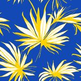 Le fond sans couture floral Palm Beach de modèle de jungle tropicale part Illustration Stock