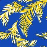 Le fond sans couture floral Palm Beach de modèle de jungle tropicale part Illustration Libre de Droits