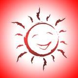 Le fond Sun indique la conception et la lumière du soleil de sourire illustration stock