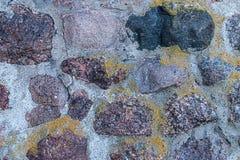 Le fond urbain bas de pierre de conception de style a plié le mur fort cimenté granit de beaucoup de blocs images libres de droits