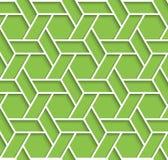 Le fond vert et blanc géométrique avec le contour expulsent effet Image stock