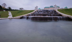 Le fontain de belvédère en parc à Vienne, Autriche photographie stock libre de droits