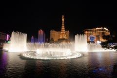Le fontane di Bellagio Immagini Stock Libere da Diritti