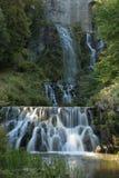 Le fontane nella montagna parcheggiano in Cassel Wilhelshoehe Fotografie Stock Libere da Diritti